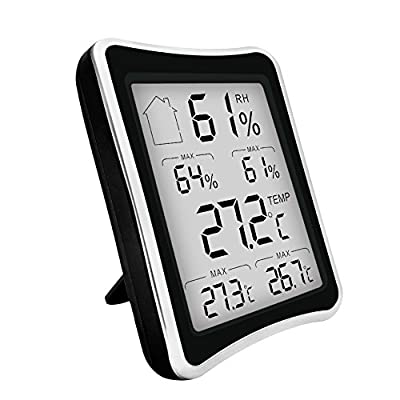 Humidity Monitor, Digital Humidity Gauge, Hygrometer Thermometer Temperature, soled Indoor Temperature and Humidity Monitor, Perfect for Kids, Home, Office