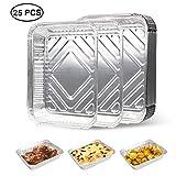 EXTSUD Vassoi per BBQ Griglia in Alluminio Set da 25 Pz Contenitori Porta Alimentari Anti-...