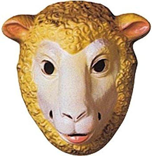Mondial-fete - 4 Masques mouton enfant PVC 3D - 23 x 16 cm