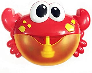 COODIO Kids Pool Swimming Bathtub Soap Machine Crabs Shape Music Automatic Bubble Maker Baby Bath Toy for Kids Gifts