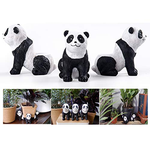 dgudgu Pot feet for Outdoor planters,planters Pot risers,Pot Elevators for planters,3pcs Pack Panda Shaped Resin Pot Toes Improve Airflow and Drainage,Protector for Kinds of Heavy pots