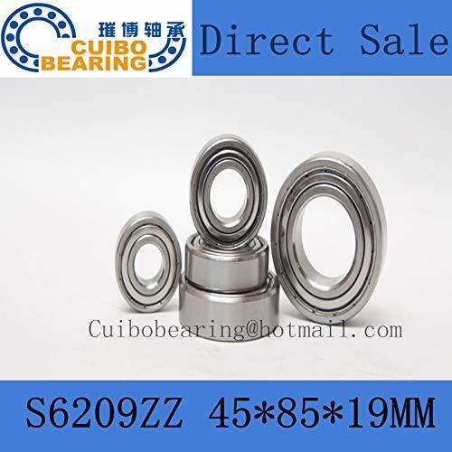 Ochoos 1PCS S6209ZZ Stainless Steel Fees Daily bargain sale free Bearing Miniature 45x85x19 6