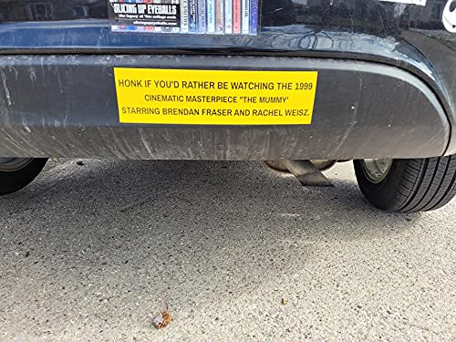 I'd Rather Be Watching the Mummy bumper sticker