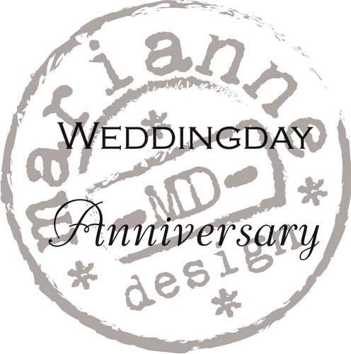 Marianne Design MARCS0886 Clear Stamps Weddingsday and Anniversary UK, Sillicone, Noir, 7,5 x 11 x 0,5 cm