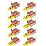uxcell Push Button Switch, DPDT 6 Pin 1 Position Self-Locking Yellow 10pcs