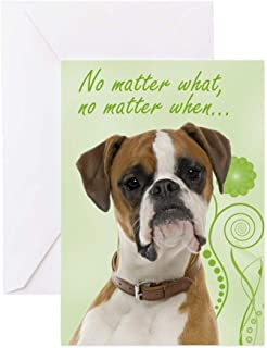 CafePress Boxer Love And Support Cards Greeting Card, Note Card, Birthday Card, Blank Inside Glossy