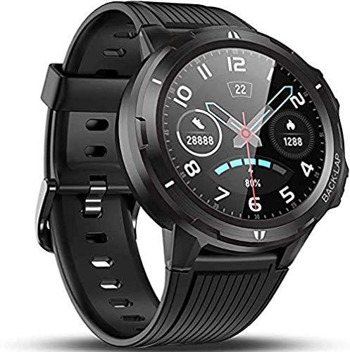 Reloj inteligente con ritmo cardíaco presión arterial Monitor de sueño 5ATM impermeable 1.3 pulgadas Smartwatch GPS podómetro