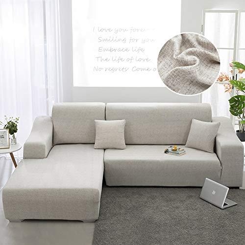 WXQY Funda de sofá de Sala de Estar Chaise Longue, en Forma de L Necesita Comprar 2 Juegos, Funda de sofá elástica Funda de sofá de Esquina en Forma de L A10 3 plazas