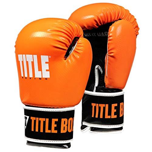 Title Boxing Vengeance Fitness Boxing Gloves, Orange/Black, Large