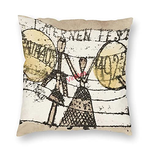 VinMea Funda de almohada decorativa Paul Klee a Katherine Dreier Fundas de cojín para sofá, dormitorio, hogar, oficina, decoración de 50 x 50 cm