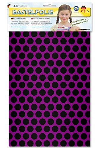 ORASTICK 45-015-071-B - Bastelfolie Fun 1, Circa A4, fluoreszierend violett/schwarz
