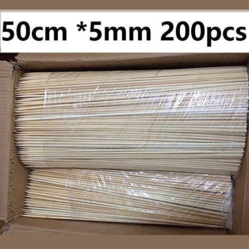 51WGO+zL qL - HONG YU 200 Stück 50cm * 5mm Bambusholzgrillspieße Naturholzschläger Fleisch Shish Kebob Stock-Grill-Zubehör Restaurant Bar Versorgung (Farbe : 200pcs)
