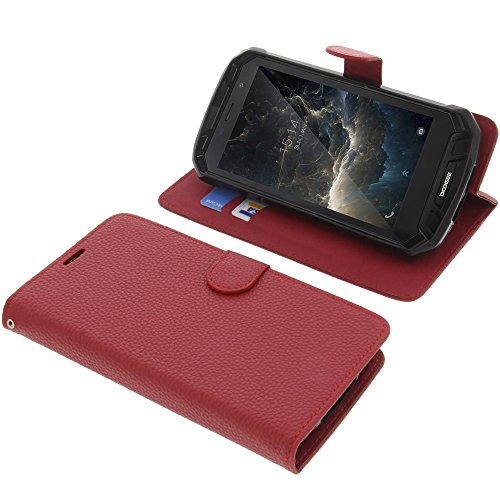 foto-kontor Tasche für Doogee S60 / S60 Lite Book Style rot Schutz Hülle Buch