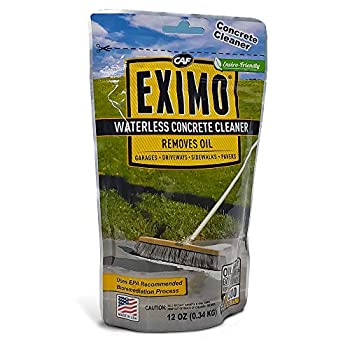 EXIMO® Waterless Concrete Cleaner  0.75 lbs  for Driveway Garage Basement and Walkway Surfaces Advanced Stain Remover for Oils and Other Petroleum Stains