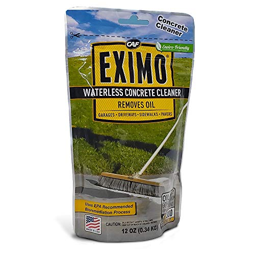 EXIMO Waterless Concrete Cleaner 0.75 lbs for Driveway, Garage, Basement, and Walkway Surfaces, Advanced Stain Remover for Oils and Other Petroleum Stains