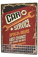 カレンダー Perpetual Calendar Professional Guild car service Tin Metal Magnetic Vintage