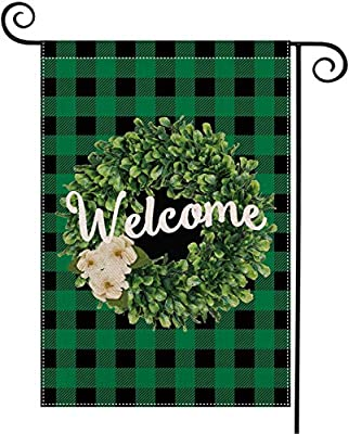 DIYUE Garden Flag Vertical Double Sized,Spring Holiday Yard Outdoor Decoration