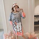 Handaxian Fashion warm Flanell Nachthemd Damen Pyjamas Home Service Casual Schlafen Kleidung Mädchen Geschenk 4 L