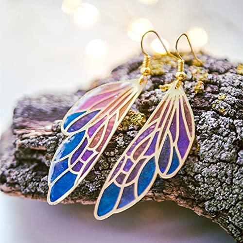 YANXIA Pendientes Pendientes Colgantes Llamativos para Mujer Pendientes de Mariposa para Fiesta de Boda para Mujer Regalos Bohemios Pendientes de Aro de Oro para Mujer