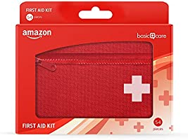 Amazon Basic Care - Kit de primeros auxilios, 54 unidades