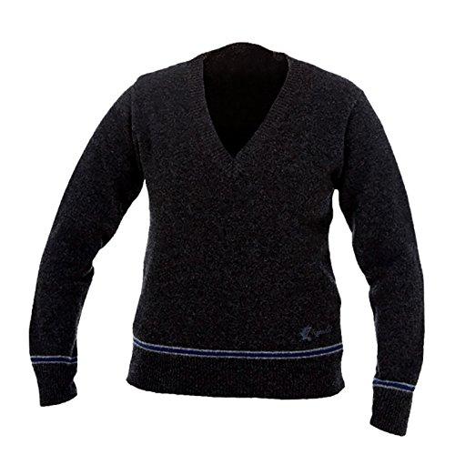 HARRY POTTER Ravenclaw Sweater Hogwarts College Pullover vom Filmausstatter made in Schottland Lammwolle, Schwarz, M