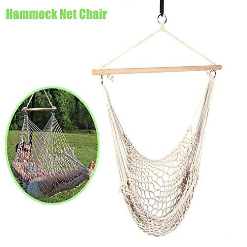 lzndeal Extérieure Intérieure Hamac Chaise Suspendue Swing Coton Corde Net Berceaux Enfants Adultes Chaises de Balançoire