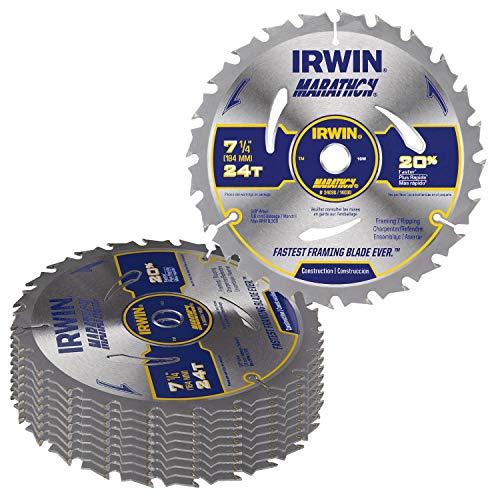 Irwin 14030 / 24030 Marathon 7-1/4-Inch 24-Tooth Circular Saw Blade,10 Pack