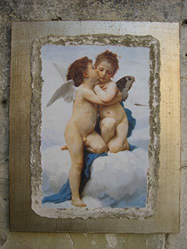 """Ars Martos - """"The First Kiss' Riproduzione d'Arte in Affesco su Intonaco. Varie misure disponibili"""