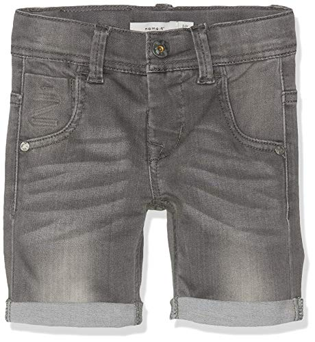 Name IT NOS Jungen NKMTHEO DNMCLAS 5155 Long NOOS Shorts, Grau (Medium Grey Denim), (Herstellergröße: 128)