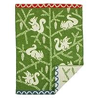 [ クリッパン ] Klippan ミニブランケット ウール 65×90cm ひざ掛け 2444.01 リス/グリーン Wool Blankets Squirrel Green ベビー 毛布 ふわふわ あったかグッズ プレゼント [並行輸入品]