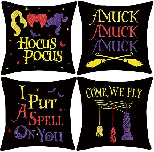 Halloween Throw 70% OFF Outlet Pillow Cover Hocus Pocus a Witches Put 2021 spring and summer new S I Amuck