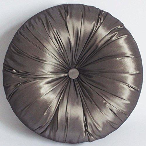 Coussin imitation soie SUOLANDUO rond 15,7 cm de diamètre avec garnissage 100% Polyester-Cannelle WZ07–C