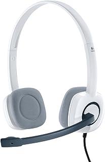 Logitech H150 Auriculares con Cable, Sonido Estéreo con Micrófono Giratorio, Dos Clavijas de Conexión Jack 3,5mm, Controle...