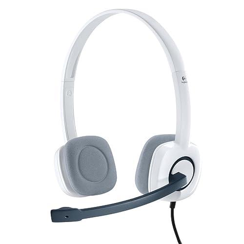Logitech Stereo Headset H150 Borg Coconut Micro-casque Microphone anti-parasite Commandes audio intégrées Blanc Coco