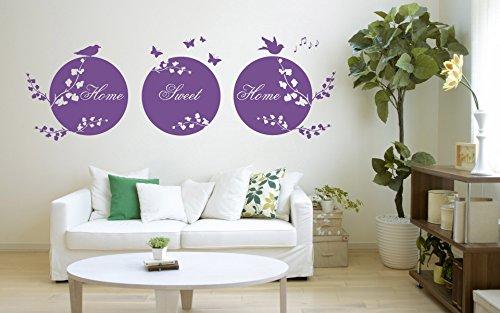 """Cita\""""Home Sweet Home\"""", Vinilo decorativo de pared, Mural, Calcomanía. Hogar, decoración de la pared. Sala de estar, dormitorio/cita de amor, círculos"""