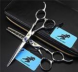 PSSS Kit de Tijeras de Corte de Cabello, Slub Manilla Tijeras de peluquería, 6,0 Pulgadas de Acero Inoxidable Razor Sticks Tijeras de barbero Salones para salón y Uso doméstico
