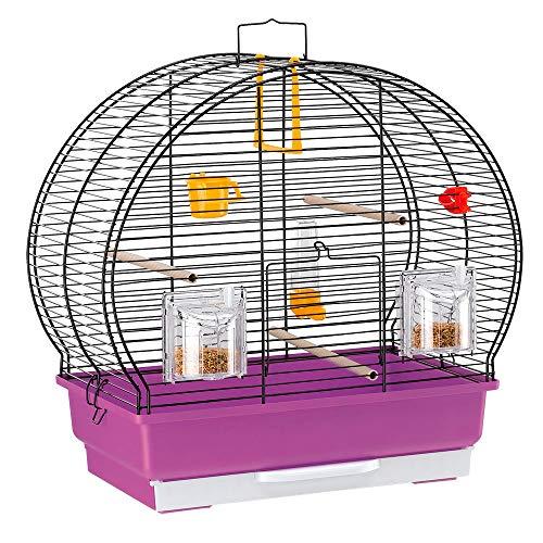 【送料無料】イタリアferplast社製 鳥かご ルナ 2 ブラック Luna 2 Black 鳥籠 ゲージ フルセット カナリア セキセイインコ 小型鳥用