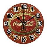Reloj vintage con logotipo de Coca Cola Decoración de Pared Acrílico Decorativo Redondo Funciona con Baterías Relojes de Pared para el Hogar Dormitorio Salón Decoración Silenciosa No T