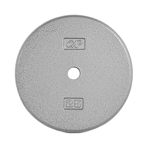 CAP Barbell Cast Iron Standard 1-Inch Weight Plates, Gray, Single, 25 Pound