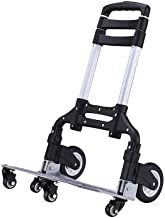 WYKDL Aluminum Folding Portable Luggage Cart Lightweight Travel Hand Truck Heavy Duty Hand Trucks