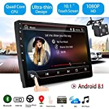 GOFORJUMP 10 Pulgadas Android 8.1 Universal Car Radio Android Car Radio Player GPS NAVEGACIÓN WiFi Bluetooth MP5 Player con cámara de visión Trasera