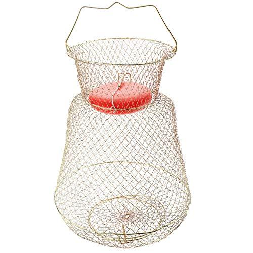 Sparkfire Floatable Galvanized Wire Fish Basket, Gold, Medium/13 x 18