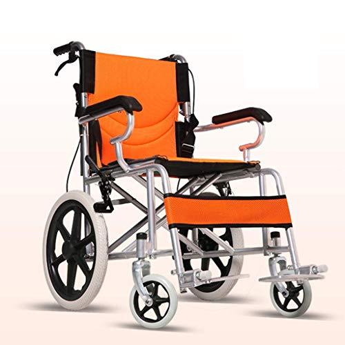 WZB - Wheelchair Selbstfahrender Rollstuhl Atmungsaktiv, Rollstuhlklappbar Leichte, Kleine Ältere Personen Tragbare, Ultraleichte, Ältere Personen mit Behinderung Kleine Schubkarre