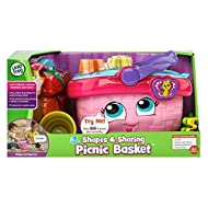 PICNIC TIME! Pack a picnic for two and pretend to snack on yummy treats while exploring food, shapes and colours. Then, put the pieces back in the basket for fun on the go! AN INTERACTIVE PICNIC BASKET - Hear the polite picnic basket make food reques...