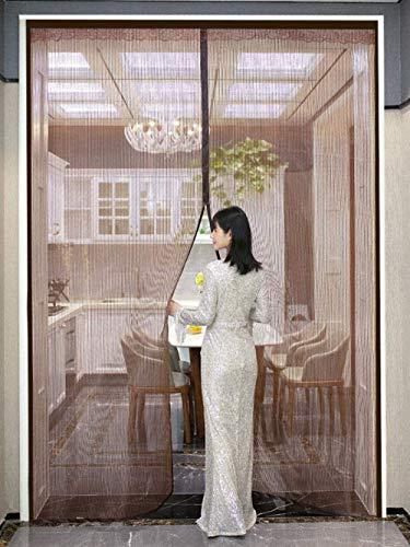 Xervg Balkontür,Anti-Mücken- und Anti-Fliegen-Belüftung Schlafzimmer Balkon Vorhang-Braun_100 * 220 cm