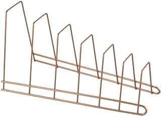 Metaltex 3609060000 Porte-couvercles 6 Places à Poser-Cricket, Métal, cuivré, 34 x 15 x 18 cm