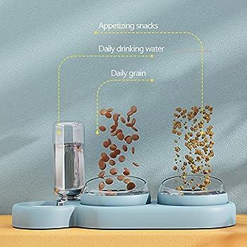 Moking Gamelle double 3 en 1 pour chat avec distributeur d'eau automatique