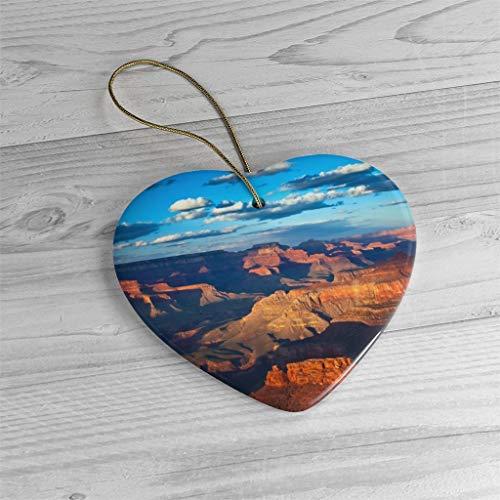 Lplpol Grand Canyon National Park Ornament | Arizona Christmas Decoration| Ceramic Memento | Xmas Tree Hanging Pendant | OtY1221