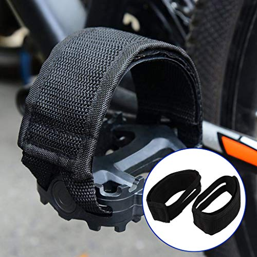 One Pair Bike Pedal Straps Pedal Nylon Toe Clips Straps Tape for Fixed Gear Mountain Bike