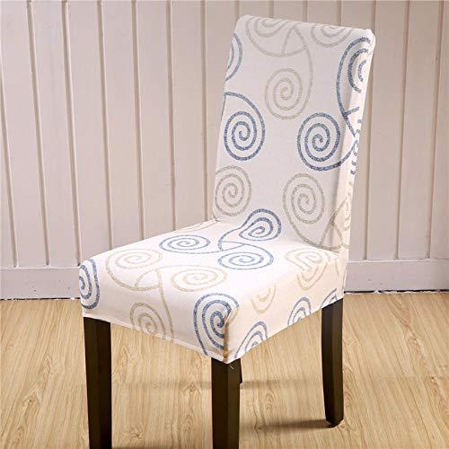 Fundas para sillas Patrón Beige Fundas sillas Comedor Fundas elásticas, Fundas de Asiento para Silla,Diseño Jacquard Cubiertas de la sillas,para el Hogar, Restaurante, Bar(8 Piezas)